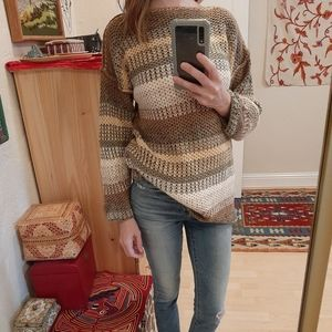 Retro The Limited Striped Knit Sweater S